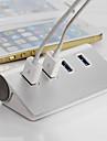 высокое качество Щепка USB 3.0 хаб 4 порта сплиттер адаптер алюминиевый концентратор для портативных ПК