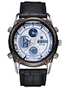 ASJ Masculino Relógio Esportivo Relógio de Pulso Japanês Quartzo LCD Cronógrafo Impermeável Dois Fusos Horários alarmeAço Inoxidável