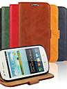 Кора зерна натуральной кожи всего тела крышка с подставкой и чехол для Samsung s3 мини i8190n