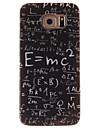 용 삼성 갤럭시 케이스 패턴 케이스 뒷면 커버 케이스 단어 / 문구 TPU Samsung S6