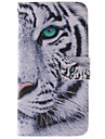 Для Кейс для  Samsung Galaxy Бумажник для карт / со стендом / Флип / С узором / Магнитный Кейс для Чехол Кейс для Животный принт