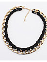 Necklace Choker Necklaces Jewelry Daily Fashion Alloy Black / Yellow / Green / Pink 1pc Gift