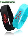 Masculino / Mulheres / Unissex Relógio Esportivo Digital LED / Calendário / Impermeável Silicone BandaPreta / Branco / Azul / Vermelho /