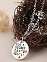 Euner® 2015 Hot !pretty little liars got a secret can you keep it necklace Vintage Movies Jewelry