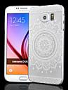Для Кейс для  Samsung Galaxy Чехлы панели Матовое Прозрачный Рельефный Задняя крышка Кейс для Мандала PC для Samsung S6
