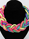 Women's Choker Necklaces Pendant Necklaces Chain Necklaces Statement Necklaces Alloy Fashion Yellow Fuchsia Pink Light Blue Rainbow