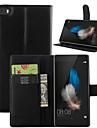 Pour Coque Huawei Portefeuille Porte Carte Avec Support Clapet Coque Coque Intégrale Coque Couleur Pleine Dur Cuir PU pour Huawei