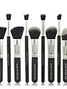 10pcs Black Cosmetic Brush Set Professional Makeup Tools Makeup Brush Sets Bottom Makeup Brush Sets
