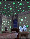 Геометрия Наклейки Светящиеся наклейки Декоративные наклейки на стены,Винил материал Съемная Украшение дома Наклейка на стену
