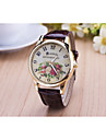 Women's Fashion Diamond Flower Quartz Analog Leather Print Wrist Watch(Assorted Colors) Cool Watches Unique Watches