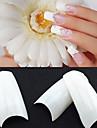 500 профессиональных белые корейским меркам половина хорошо ложные акриловые советы ногтей (50pcsx10 размеры смешанный)