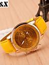 Mulheres Relógio de Moda Quartzo Couro Banda Azul Laranja Verde Roxa Amarelo Laranja Roxo Amarelo Verde Azul