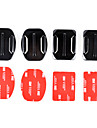 2x base plana e 2x montagens curvas com 3m almofadas adesivas para GoPro Hero 4/3 + / 3/2/1 / sj4000 / sj5000 / sj6000
