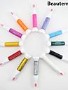 12pcs 2em1 multa caneta nib&unha polonês escova de unha arte pintura pen nail art decoração kit