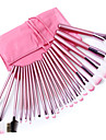 Fashion Durable 22pcs Makeup Brush Professional Cosmetic Set with Bag Fashion Pink
