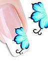 Цветы/Абстракция - 3D наклейки на ногти - Пальцы рук/Пальцы ног - 10.5X7X0.1 - 1 - Прочее