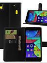 용 레노보 케이스 지갑 / 카드 홀더 / 스탠드 / 플립 케이스 풀 바디 케이스 단색 하드 인조 가죽 Lenovo