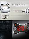 Hommes Montre Bracelet Numérique LED Calendrier Silikon Bande Noir Blanc Marque