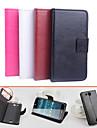 Для Кейс для Acer Бумажник для карт / со стендом / Флип / Магнитный Кейс для Чехол Кейс для Один цвет Твердый Искусственная кожа для Acer