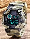 SANDA® Men's Sport Watch Fashion Camouflage Military Design Digital Display Calendar/Chronograph/Alarm/Water Resistant Wrist Watch Cool Unique Watch
