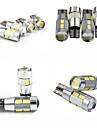 Тесо T10 4W постоянного тока 11, 13 В 10шт 5630/5730 SMD LED CANBUS 6000-6500k широкий лампа, лампа для чтения, Номерной знак автомобиля