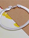 남성용 여성 체인 & 링크 팔찌 패션 의상 보석 스탈링 실버 Geometric Shape 뱀 보석류 제품 결혼식 파티 일상 캐쥬얼 크리스마스 선물