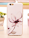 Pour Coque iPhone 5 Etuis coque Motif Coque Arrière Coque Fleur Flexible PUT pour iPhone SE/5s iPhone 5