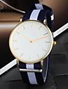Hommes Montre Bracelet Quartz Tissu Bande Bayadère # 1 # 2 # 3 # 4