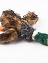 Игрушка для собак / Игрушка для котов Игрушки для животных Жевательные игрушки / Плюшевые игрушки Скрип / Утка Коричневый Текстиль