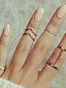 Кольца на вторую фалангу Сплав В форме листа Мода Золотой Серебряный Бижутерия Для вечеринок 1 комплект