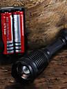 Светодиодные фонари / Ручные фонарики LED 5 Режим 2200 Люмен Фокусировка Cree XM-L T6 18650 / AAAПоходы/туризм/спелеология / Повседневное
