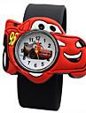Дети Модные часы Повседневные часы Кварцевый силиконовый Группа Черный Синий Красный Оранжевый Зеленый ЖелтыйТемно-синий Желтый Красный
