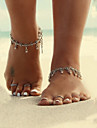 Women's Body Jewelry Anklet Barefoot Sandals Alloy Unique Design Fashion Simple Style Drop Jewelry Silver JewelryDaily Casual Christmas