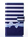 Для Кейс для  Samsung Galaxy Чехлы панели Кошелек Бумажник для карт со стендом Флип Чехол Кейс для Полосы / волосы Искусственная кожа для