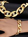 Homme Chaînes & Bracelets Bracelets Vintage Imitation de diamant Mode Bijoux Fantaisie PersonnaliséStrass Platiné Plaqué or Imitation
