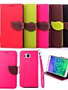 용 삼성 갤럭시 케이스 지갑 / 카드 홀더 / 스탠드 / 플립 케이스 풀 바디 케이스 단색 인조 가죽 Samsung Trend Duos / Grand Prime / Alpha