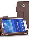 Для Кейс для  Samsung Galaxy со стендом / Флип Кейс для Чехол Кейс для Один цвет Искусственная кожа SamsungTab 4 7.0 / Tab 3 7.0 / Tab 3