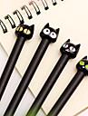 Гелевая ручка, Черный кот с черными чернилами (1 шт.)
