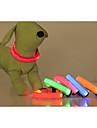 Коты / Собаки Ошейники Светодиодные фонарики / Регулируется/Выдвижной Твердый Красный / Зеленый / Синий / Розовый / Желтый / Оранжевый