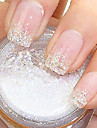 Flicker White Glitter Powder Nail Art Decorations