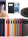 삼성 갤럭시 S4 미니 i9190의 i9192의 i9195에 대한 원래의 PU 가죽보기 창 스마트 자동 수면 전신 케이스