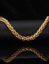 u7® alta qualidade 18k Gold Filled torcida Cingapura pulseira elo da cadeia para homens mulheres 7 milímetros 21 centímetros
