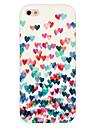 couleur du motif amour téléphone le cas de couverture pour iphone5c