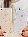 Pour Coque iPhone 6 / Coques iPhone 6 Plus Transparente / Motif Coque Coque Arrière Coque Fleur Flexible TPUiPhone 6s Plus/6 Plus /