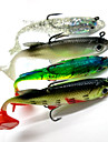 4pcs Soft Baits / Shads / Jerkbaits Lead Fish 8cm/14g Fishing Lure with Hooks
