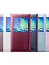 Для Кейс для  Samsung Galaxy с окошком / Флип Кейс для Чехол Кейс для Один цвет Искусственная кожа Samsung A8 / A7 / A5 / A3