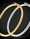 u7® простой дизайн браслеты для женщин / мужчин 18k реальное золото платина покрытием браслеты браслет