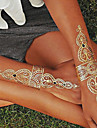Séries de Jóias Tatuagem Adesiva - Non Toxic/Hawaiian/Lombar/Waterproof - para Feminino/Masculino/Adulto/Adolescente - de Papel - Multicolorido -