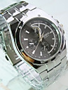 Мужской Нарядные часы Кварцевый Нержавеющая сталь Группа Серебристый металл