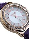Women's Round Alloy Diamond  Dial PU Band Quartz Fashional Dress Wrist Luxury  Watch Cool Watches Unique Watches